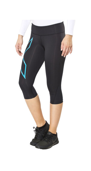 2XU Mid-Rise Compression 3/4 Tights Women black/capri blue